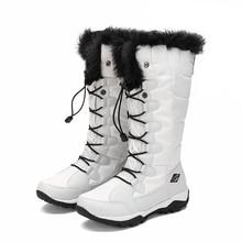 hot deal buy women winter walking boots ladies snow boots waterproof anti-skid skiing shoes women snow shoes outdoor trekking boots for-40c