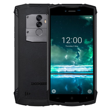Fast shipping on DOOGEE S55 5.5 inch 18:9 IP68 Waterpoof Dustproof Smartphone MTK6750T 5500mAh 4GB 64GB Mobile phone