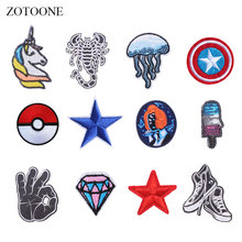 ZOTOONE Unicorn Sequin Patches Diamond Stickers Iron on Clothes Heat Transfer Applique Embroidered Applications Cloth Fabric G