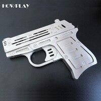 Howplay пистолет с резиновой лентой игрушка слайд пистолет стрельба игры нержавеющая сталь металла пистолеты оружие войны коллекция подарок д