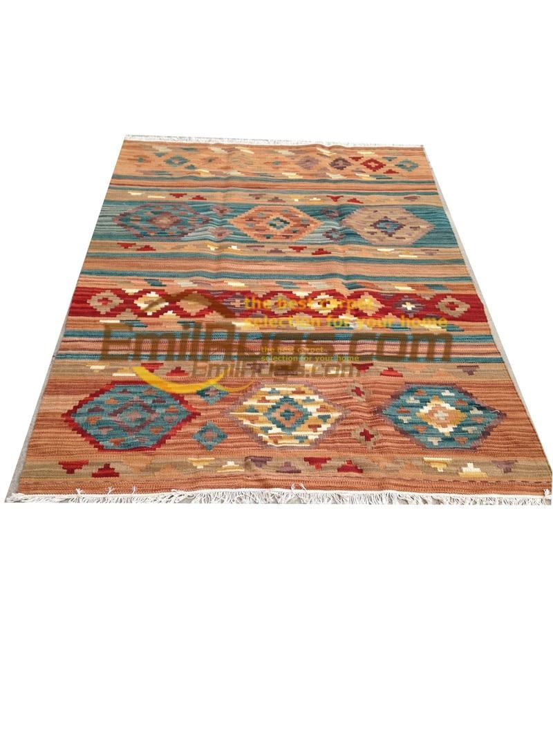 handmade wool kilim rugs living room rug bedroon bedside blanket corridor Mediterranean style 4046gc131kilimyg4