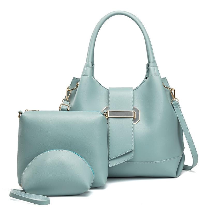 Famoua marque PU dame sacs sac à bandoulière femme décontracté fourre-tout femmes Messenger sac ensemble sacs à main femmes sac