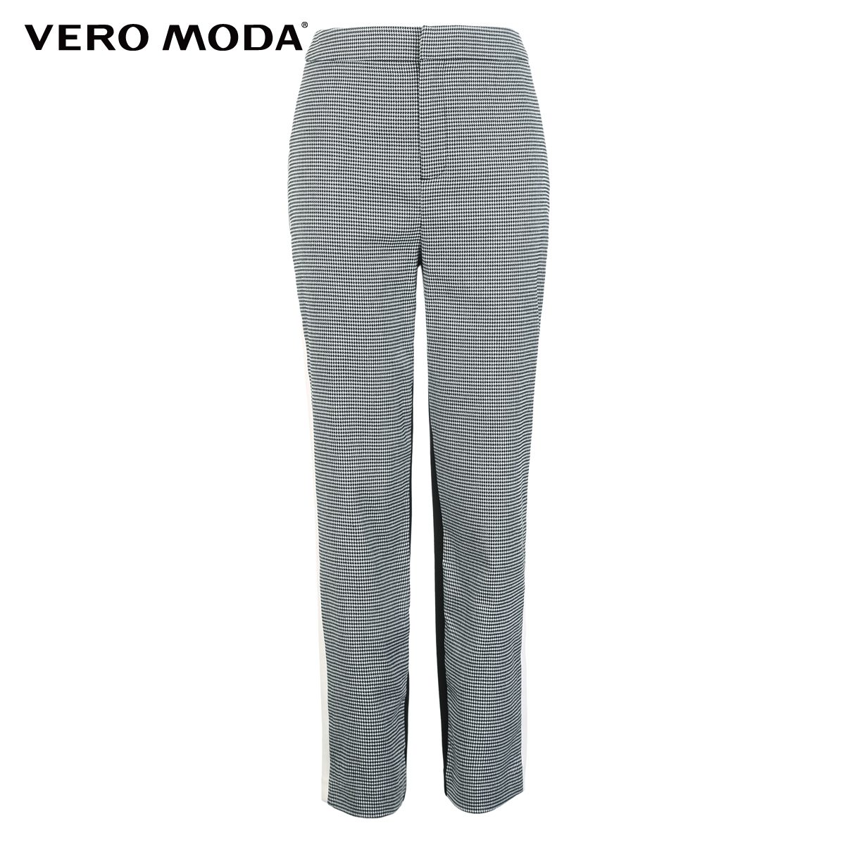 Image 5 - Vero Moda New Womens Houndstooth Splice Front Zip Plaid Stretch Pants  318350519Pants