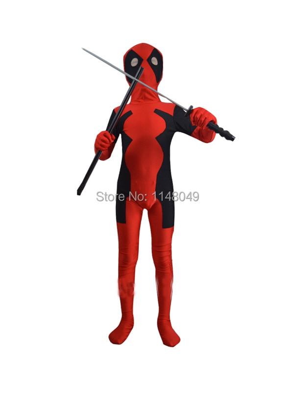 Nejprodávanější Kids Deadpool Spandex Bodysuit Zentai oblek pro - Kostýmy
