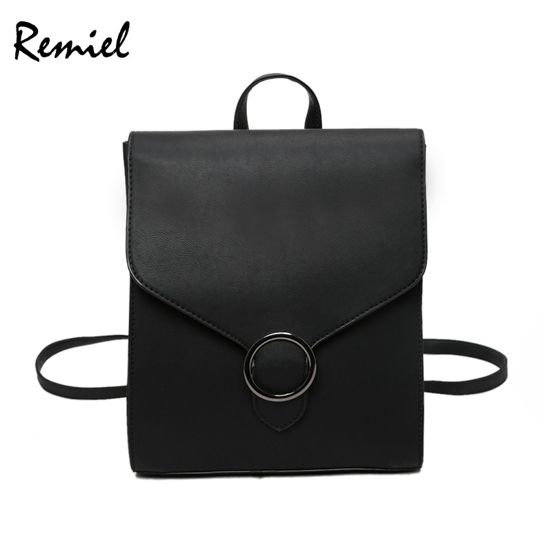 Fashion Women Backpack Pu Leather Retro Female Bag Schoolbags Teenage Girl High Quality Travel Books Rucksack Shoulder Bags #6