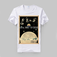Pink Floyd Stone Henge Concert Poster Printing T Shirt High Quality Modal Cotton Rock Tee