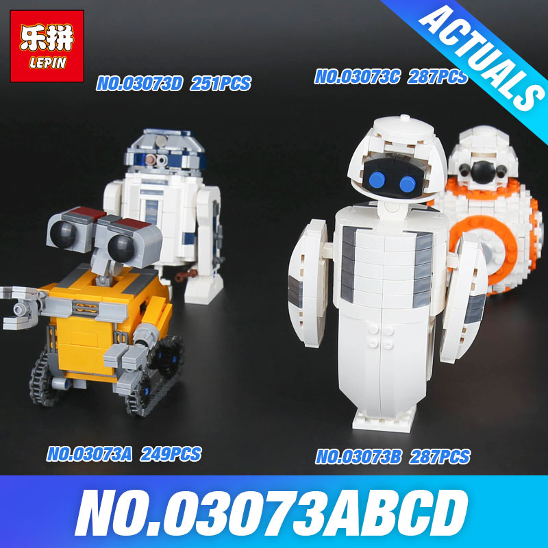 Lepin 03073 The Four Robots In One Set Genuine Movie Series Building Blocks Bricks Funny Toys DIY Christmas New Year Kid's Gifts lepin 16018 genuine the lord of rings series the ghost pirate ship set building block brick funny toys 79008