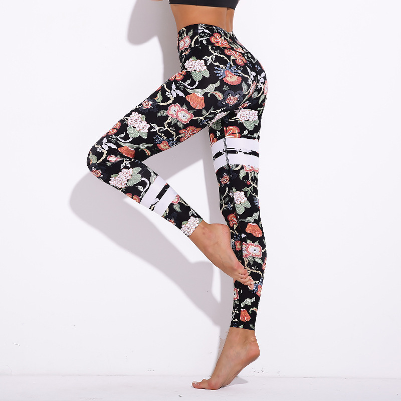 Women Sexy High Waist Floral Printed Elastic Leggings Fashion Female Fitness Wear Bodybuilding Pants Workout Leggings Plus Size