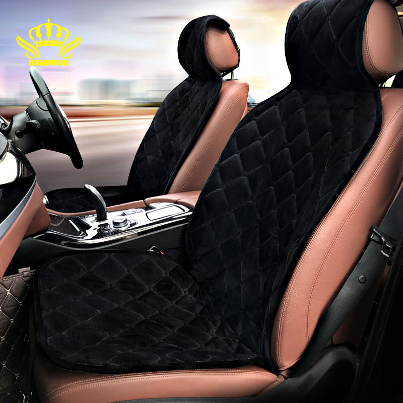 ROWNFUR Car Seat Cover Universal Set Fits Most Cars Velvet Cloth Car Seat Cushion Breathable Keep Warm Car Styling Accessories ...