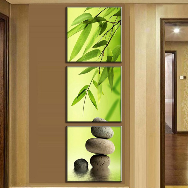 Aliexpress.com : Buy 3 Pcs/set Canvas Paintings Still Life Bamboo ...