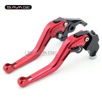 For HONDA XL 1000V Varadero 1999-2011 Red Motorcycle Adjustable Short Brake Clutch Lever CNC 3D Anti Slip Surface