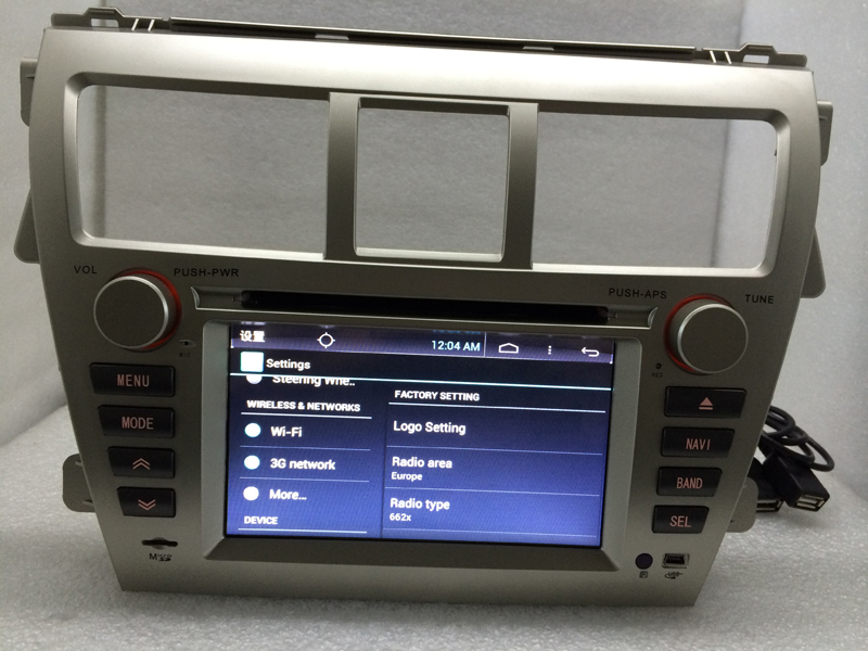 16G 1024 600 Quad Core Android 6 0 for TOYOTA VIOS 2007 2011 2012 2013 2014