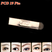 100PCS PCD 19 Pin U Blade Needle For Microblading Pen For Permanent Makeup Manual 3D Microblading Eyebrow Embroidery