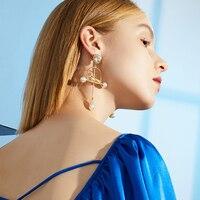 Earrings For Women 2018 Golden Statement Drop Dangle Earrings Bird Pearl Fashion Jewelry