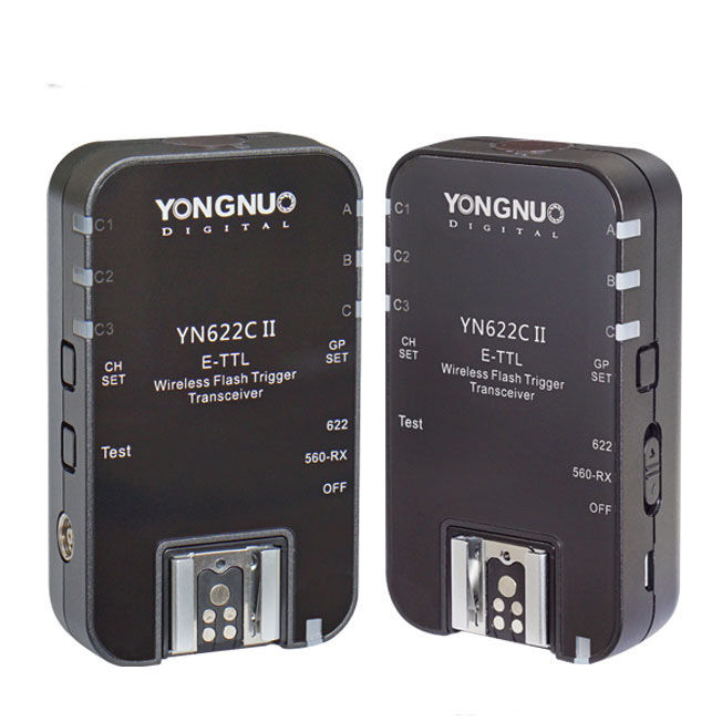 YONGNUO YN-622C II YN622C II HSS E-TTL Flash Trigger for Canon Camera With YN622C YN560-TX for Canon 100D 600D 700D 5D III etc yongnuo 3x yn 600ex rt ii 2 4g wireless hss 1 8000s master flash speedlite yn e3 rt flash trigger for canon eos camera 5d 6d