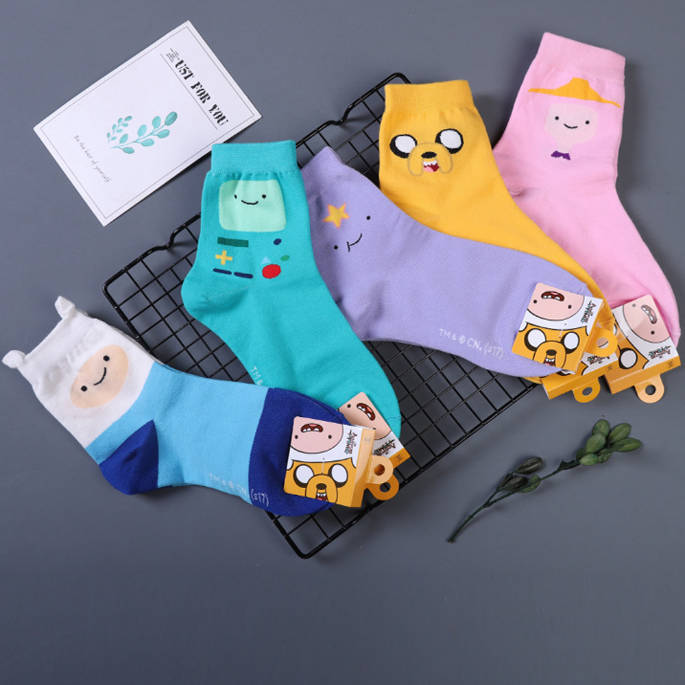 Anime Adventure Time Pictures us $2.37 9% off|anime adventure time with finn and jake sock ice king lumpy  space princess fun cute women socks autumn winter yellow cotton sock-in