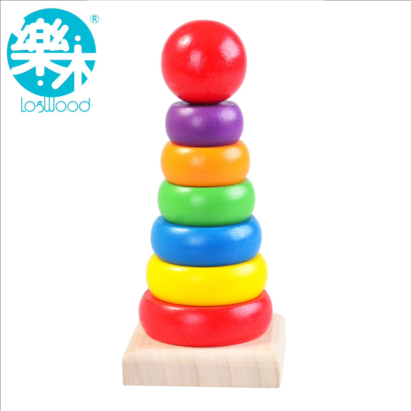 baby wooden rainbow tower for 1 year old kids toys for child early educational in men 39 s costumes. Black Bedroom Furniture Sets. Home Design Ideas