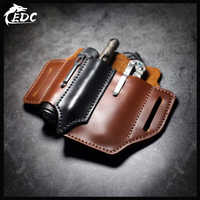 First layer cowhide EDC waist holster multi-function portable storage leather goods tool storage Multi-color optional