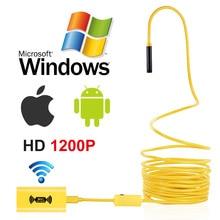 USAFEQLO 1200P 2MP WIFI Endoskop Kamera Mini Wasserdicht Harte Kabel Inspektion Kamera 8mm 3in1 Android Endoskop IOS Für iphone