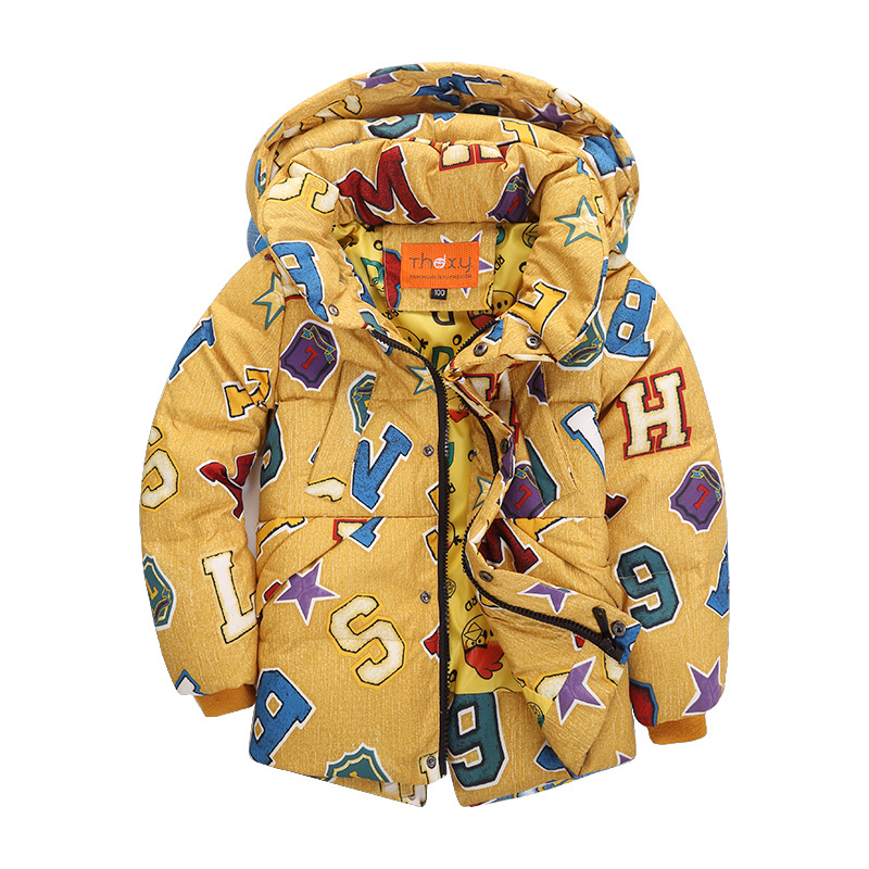 ФОТО High quality children down jacket of 2016 autumn winters boys fashion hooded warm down coat