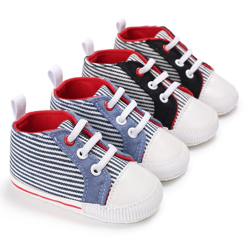 Autumn Spring Breathable Canvas Girls Boys Shoes 2 Color Comfortable Baby Sneakers Kids Toddler Shoes