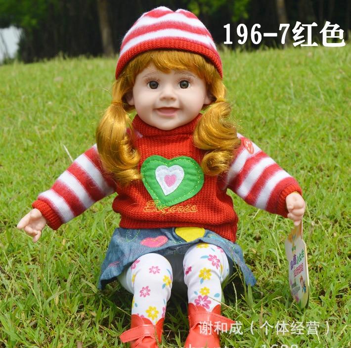 ФОТО NEW 50CM  girl princess fashion dolls for girls intelligent talking singing baby toys bonecas de pano