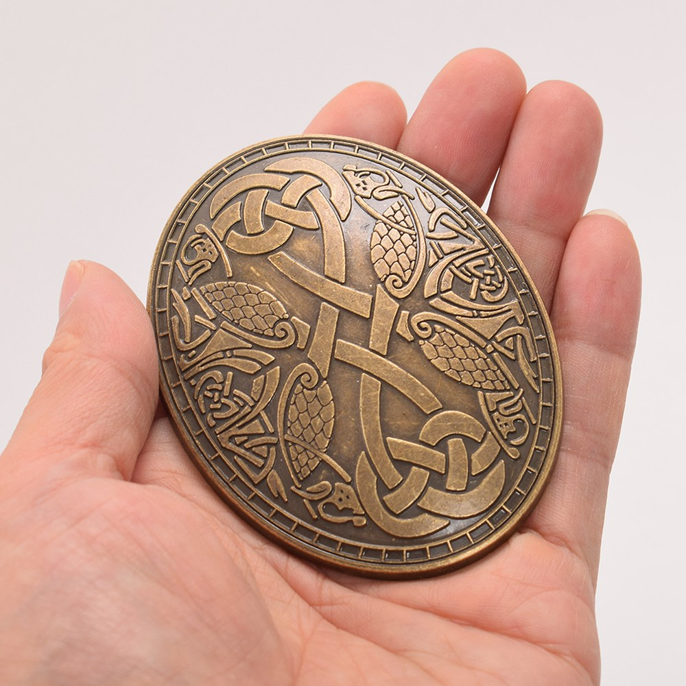 1pc Medieval Turtle Fibula Vintage Viking Oval Brooch SCA Nordic Tortoise Brooch
