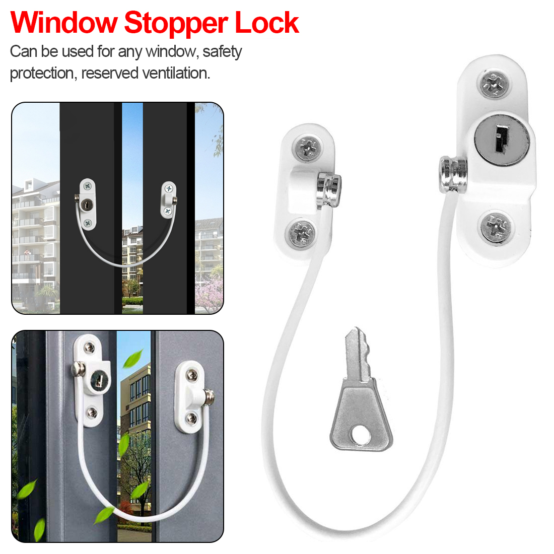 Door Window Security Lock Window Restrictor Safety...