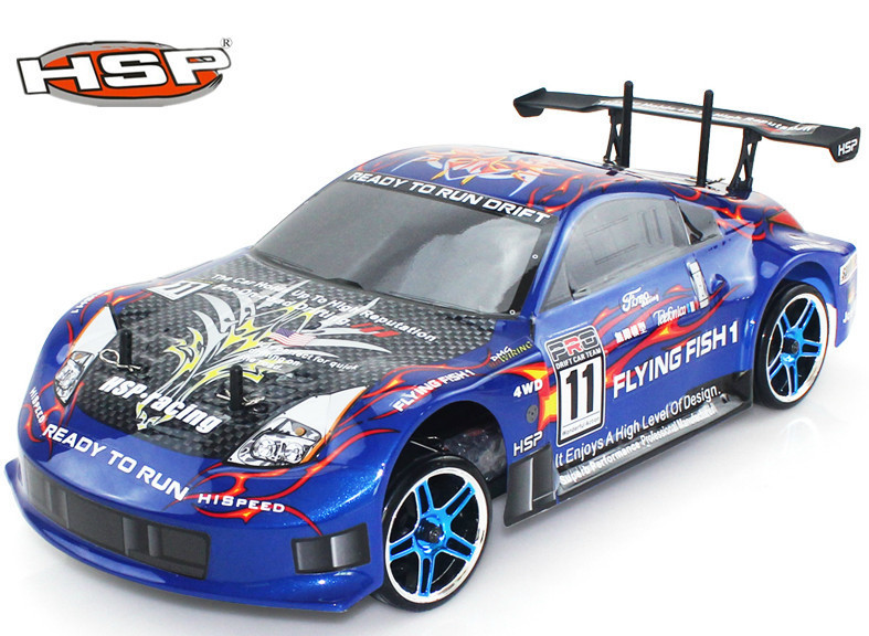 HSP 94123 Baja rc Drift Car 1/10 4wd On Road Racing Brushless or brushes Car FlyingFish High Speed Hobby Models p2 02023 clutch bell double gears 19t 24t for rc hsp 1 10th 4wd on road off road car truck silver