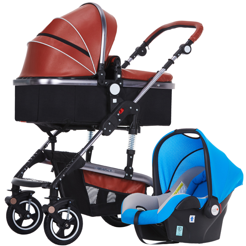 Baby Stroller 3 in 1,Baby Pushchair 3 in 1,High Landscape Fold Strollers for Children Travel,Prams for Newborns Safety seat baby stroller cushion giraffe children cart seat cushion pushchair cotton thick car seat high chair mat purple red blue