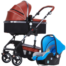 Baby Stroller 3 in 1,Baby Pushchair 3 in 1,High Landscape Fold Strollers for Children Travel,Prams for Newborns Safety seat