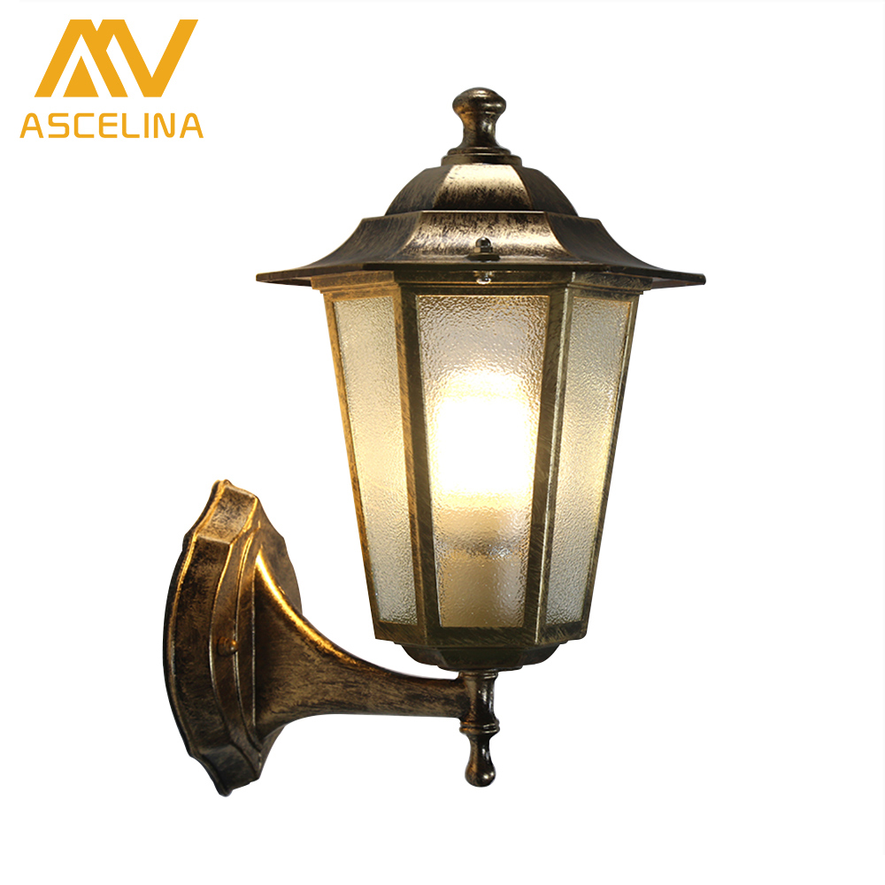 ASCELINA Outdoor LED Wall Light Vintage sconce wall lights for home Industrial wall lamps for reading home lighting E27 85-260V ...