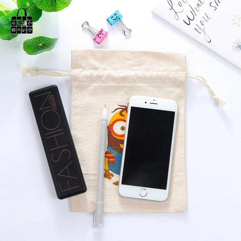 54fbd66fba62 US $1.51 20% OFF Aliexpress.com : Buy Cartoon printing 100%cotton bag  Travel Accessories Clothes underwear shoes kids toy Storage Pouch Luggage  ...
