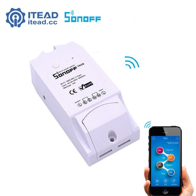 Itead Sonoff TH10 Wifi Wireless Smart Switch Timing Sensor Switch 10A 2200W With Temperature and humidity Sensor