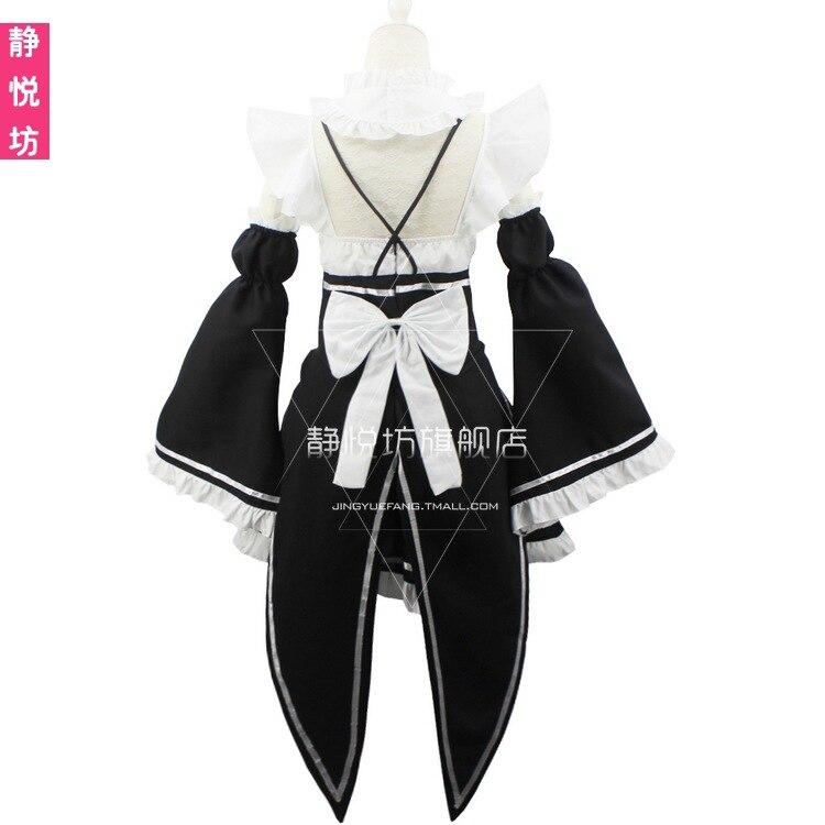 Ram/Rem Косплей Re: zero Hajimeru Isekai Seikatsu черный синий красный костюм горничной платье служанки