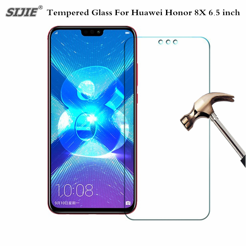 US $1 29 |Tempered Glass For Huawei Honor 8X honor8X 6 5 inch OTA Update  LTE Smartphone toughened case 9H on crystals thin clear-in Phone Screen
