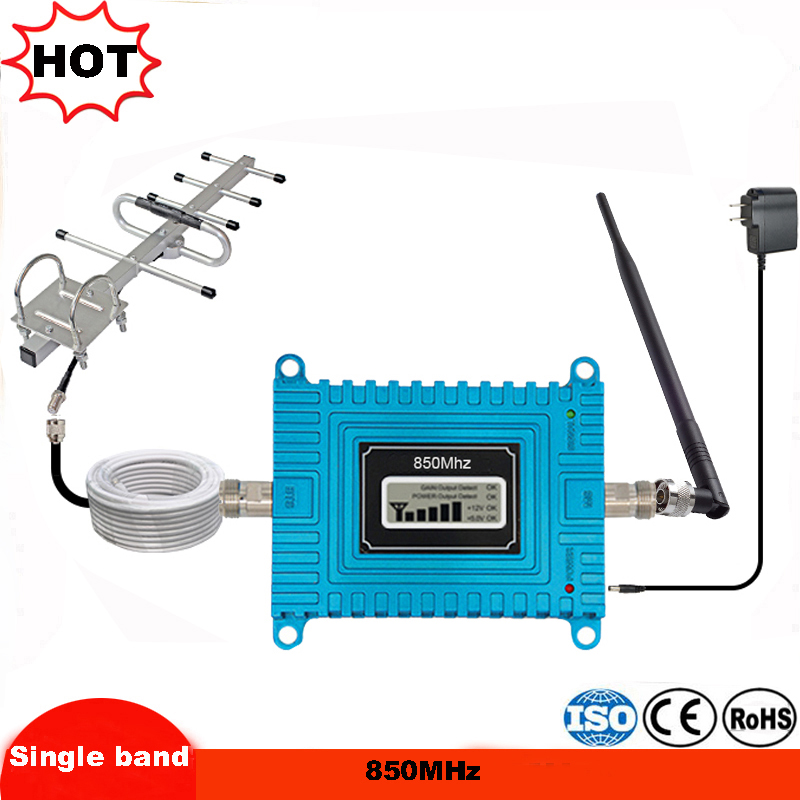 Factory GSM 850MHz Repeater Cellular Repeater Gsm Amplifer 850MHz Mobile Booster Amplifier Cellular Signal Gsm Amplificador Kit