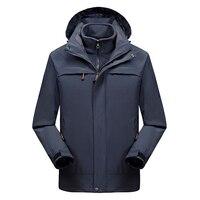 2 IN 1 Fit Jacket High Quality NIAN Brand Waterproof Windbreaker Jacket Coat Winter Jacket Men