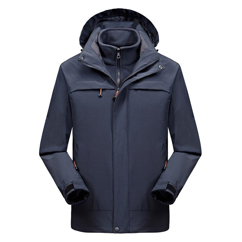2 IN 1 Fit Jacket High Quality NIAN  Brand Waterproof Windbreaker Jacket Coat Winter Jacket Men Male Coat Rain Jacket Parka