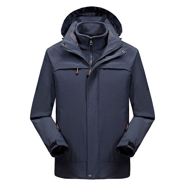 9e51f7f4e65 2 IN 1 Fit Jacket High Quality NIAN Brand Waterproof Windbreaker Jacket  Coat Winter Jacket Men Male Coat Rain Jacket Parka