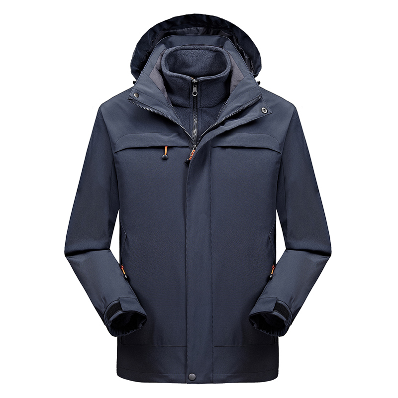 2 en 1 Fit veste de haute qualité NIAN marque imperméable coupe-vent veste manteau veste d'hiver hommes mâle manteau de pluie veste Parka