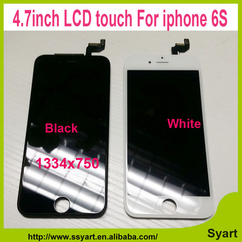 ФОТО 5pcs white Black 100% test OEM Quality HD1334x750 LCD Screen 4.7 inch lcd Display Digitizer Assembly without frame For iPhone 6S