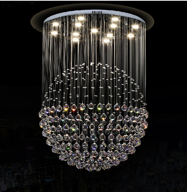 US $228.16 8% OFF|Moderne Kristall Pendelleuchte Sphärische Kristall  Pendelleuchte Salon Shop Bar Pendelleuchte Beleuchtung Enthalten Lampen in  ...