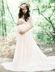 Image 5 - New Maternity Fancy Photo Shooting Pregnant Dress Maternity Photography Props Maxi Maternity Lace Maternity Dress