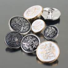 Gold/Silver/Gun Black 4Holes Mens coat resin button sewing clothes accessories Trench Clothing Overcoat Buttons DIY 100 pcs/lot