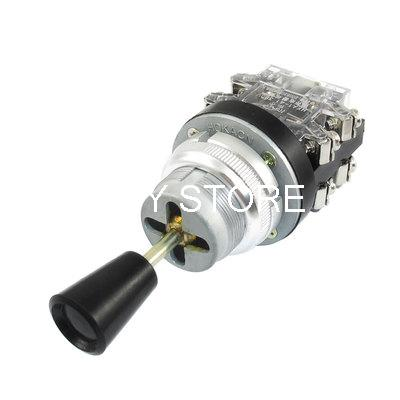 AC 380V 15 Amp 15A 4NO 4 Position Latching Maintained Self-locked Joystick Switch HKA1-41 self reset 4p4t 5 position 4 direction joystick monolever switch