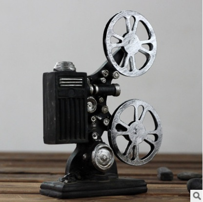 Hot Selling Creative Vintage Projector Model Retro Resin Crafts Bar Interesting Bar Decor And Accessories