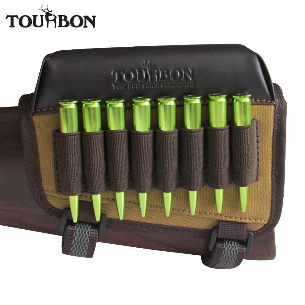 Tourbon Tactical Hunting Gun Accessories Rifle Cheek Rest Riser Pad Cartridges Holder Canvas Left Handed For Shooting