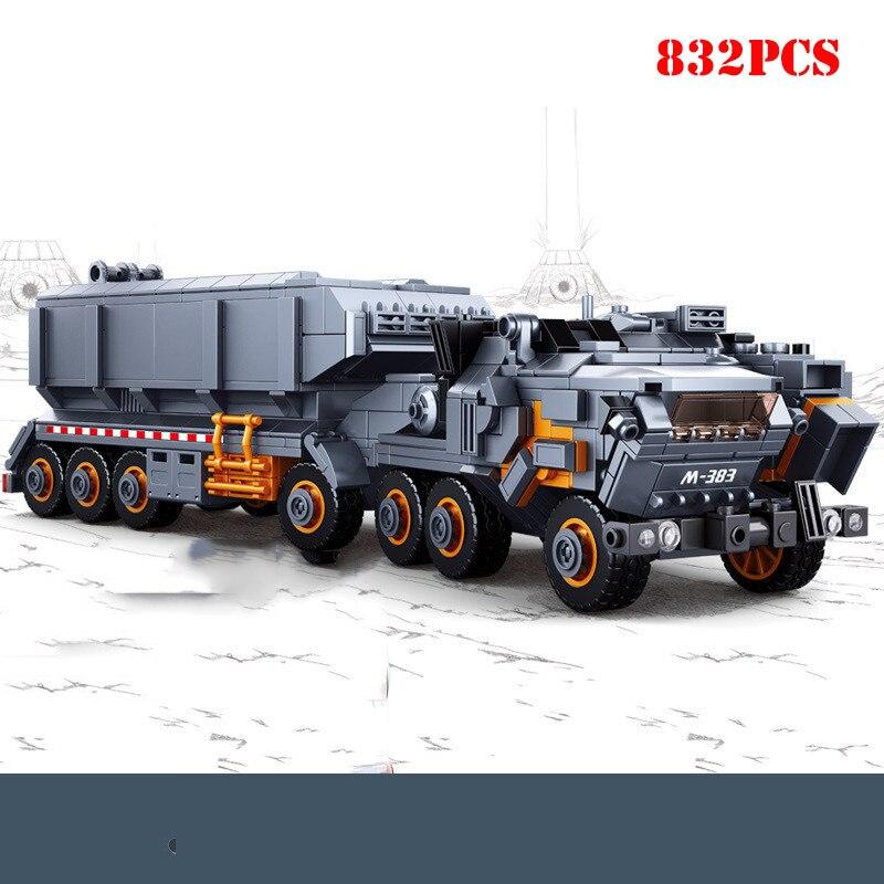 832 pièces blocs de construction de camion de véhicule de Transport lourd Compatible Legoing City Technic briques à monter soi-même jouets éducatifs cadeaux pour enfant