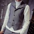 mens formal work vest 2017 new men fashion all-match slim exquisite vest